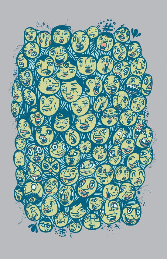 The Many Faces Of Art Print