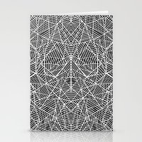 Abstract Lace On Black Stationery Cards