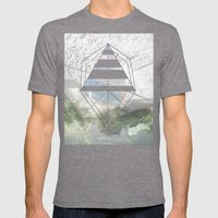 Opening in New Mens Fitted Tee Tri-Grey SMALL