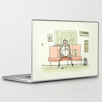 Laptop & iPad Skin featuring Live Life by Lee Grace Illustration