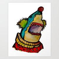 Clown Shark Art Print