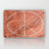 Laptop & iPad Skin featuring Peach Peace Sign (Bag Ar… by Aries Art