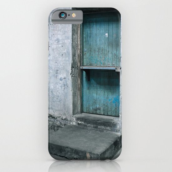 What's behind the old blue door? iPhone & iPod Case