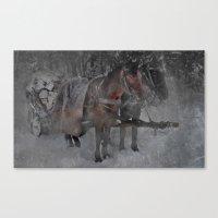 Those wild winter days Canvas Print