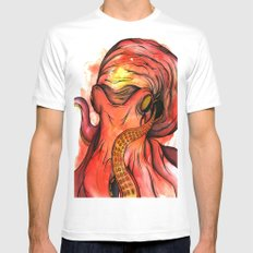 Octopus SMALL White Mens Fitted Tee