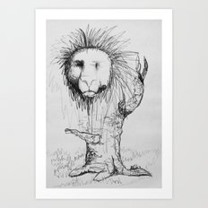 Lion Tree Art Print