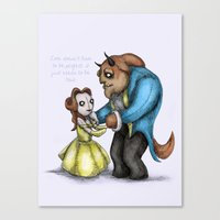 Plushie & The Beast Canvas Print
