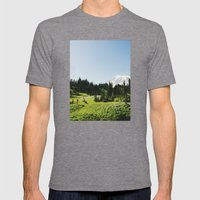 Mt Rainier Shooter Mens Fitted Tee Tri-Grey SMALL