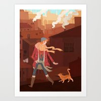 Feral Art Print
