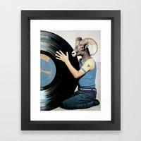 Vinyl life Framed Art Print