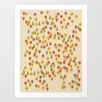 Art Print featuring Geometric Woods Ver. 3 by INDUR