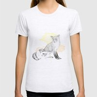 girl and fox Womens Fitted Tee Ash Grey SMALL