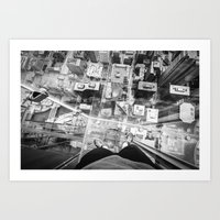 Chicago from the top Art Print