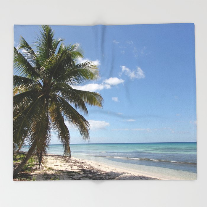Isla Saona Caribbean Paradise Beach Throw Blanket / 68