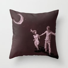Moonlight Run Throw Pillow