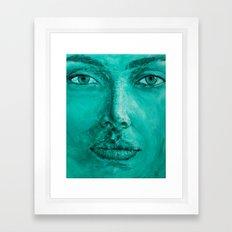 Mint Portrait Girl 1 Framed Art Print