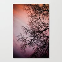 Purple & Fire Canvas Print