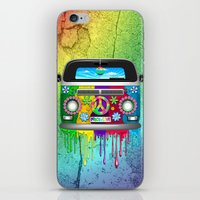 Hippie Van Dripping Rain… iPhone & iPod Skin