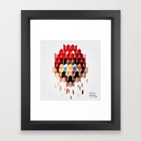 Crystal Mario Framed Art Print