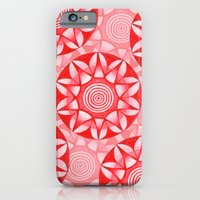 iPhone & iPod Case featuring Red Mandala by Art, Love & Joy Designs