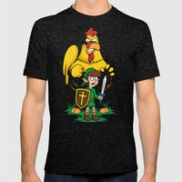 The Legend of Ernie (dark background) Mens Fitted Tee Tri-Black SMALL