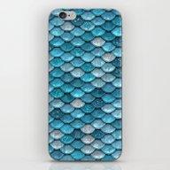 Light Turquoise Sparklin… iPhone & iPod Skin