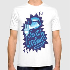 Do it! White Mens Fitted Tee SMALL