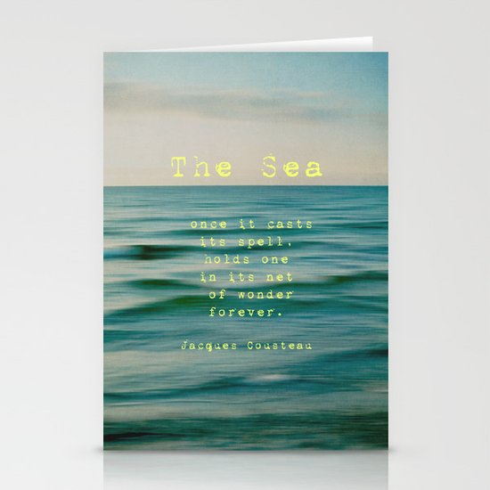 The Sea - typo Stationery Card
