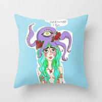 You Are Everywhere I Go Throw Pillow