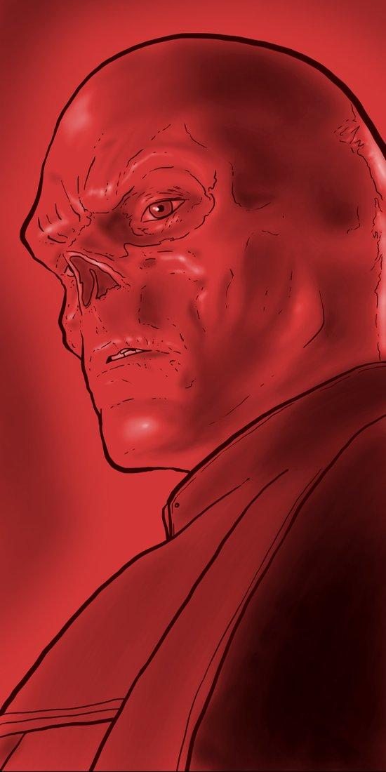 The Red Skull Art Print