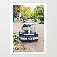 Vintage Cars Of San Fran… Art Print