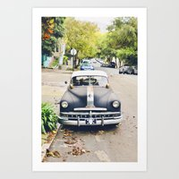 Vintage Cars Of San Fran… Art Print