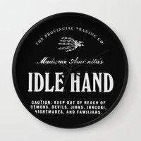 Idle Hand Wall Clock