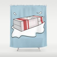 Spilt Milk Shower Curtain