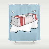 Spilt Milk Shower Curtain