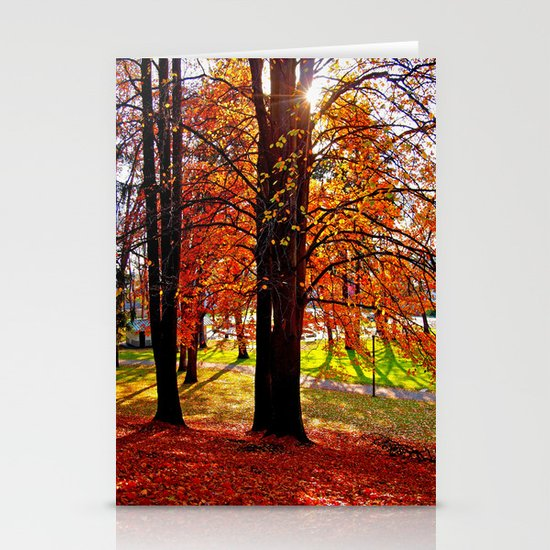 Autumn sunshine Stationery Card