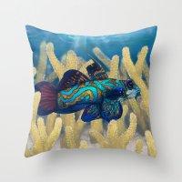 Mandarinfish Throw Pillow
