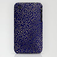 iPhone & iPod Case featuring Gold Berry Branches On N… by Cat Coquillette