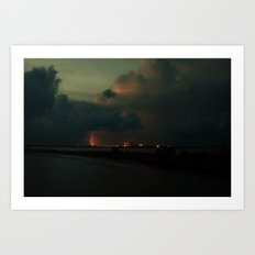 Lightning Meets Nuclear Plant Art Print