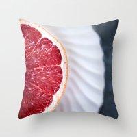 Grapefruit - Foodie Macr… Throw Pillow