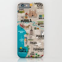 iPhone & iPod Case featuring Metro Manila, Philippines by Reg Silva / Wedgienet.net