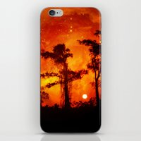 Fire In The Everglades iPhone & iPod Skin