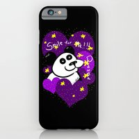 iPhone & iPod Case featuring Smile For Me! PANDA - Hearts by Redsun's Run