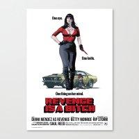 Revenge is a Bitch Canvas Print