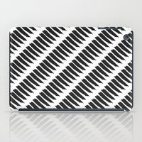 Black and White Tiger Stripes iPad Case