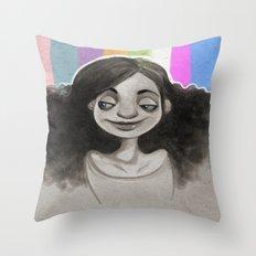 Technicolor Throw Pillow