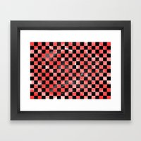 Black & Red Framed Art Print