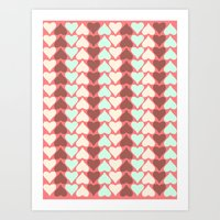 Creamy Hearts  Art Print