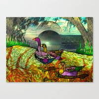 Doodlage 03 - An Afterno… Canvas Print