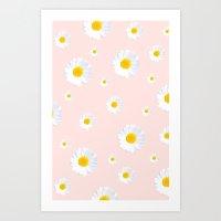 Ditsy Daisies Art Print